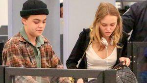 Jack und Lily-Rose Depp am Flughafen LAX