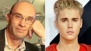 James Wannerton (l.) und Justin Bieber