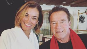 Jana Ina Zarrella und Arnold Schwarzenegger