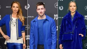 Es knallt: Promis & Models total blau auf der Fashion Week
