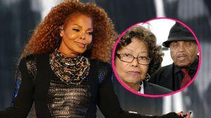 Sängerin Janet Jackson und Eltern Katherine und Joe