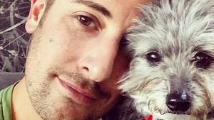 Wiedervereint: Jason Biggs kuschelt Hündin Gina