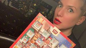 Jeanette Biedermann hat ihren Adventskalender leer gefuttert