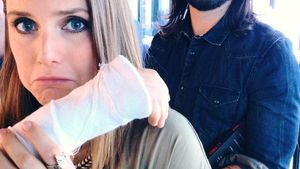 Sturz vom Pferd: Armbruch bei Jeanette Biedermann