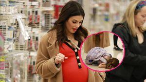 Hochschwangere Jenna Dewan: Baby im Bauch, Tochter am Boden