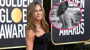 Heiß! Hier posiert Jennifer Aniston oben ohne am Strand