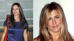 "Jennifer Aniston besucht ""Cougar Town"""