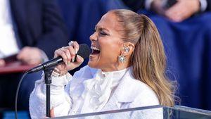 Traum in Weiß: Hier performt Jennifer Lopez für Joe Biden