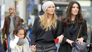 Jennifer Lopez mit ihrer Schwester Lynda und Tochter Emme in New York City