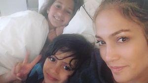 Jennifer Lopez ungeschminkt mit ihren Kindern