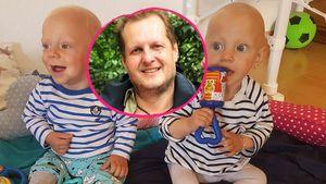 Jens Büchner und seine Zwillinge