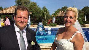 Jens Büchner und Daniela Karabas an ihrem Hochzeitstag