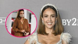 Ganz in Braun: Jessica Alba begeistert im Lässig-Chic-Look
