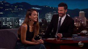 Jessica Alba zu Gast bei Jimmy Kimmel