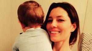 Jessica Biel mit ihrem Sohn Silas