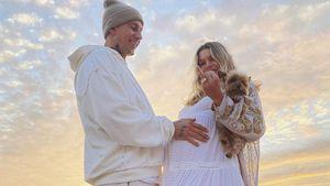 Model Jessica Hart bekommt Heiratsantrag auf ihrer Babyparty