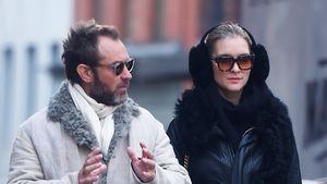 So stylisch sind Jude Law & Phillipa im kalten NYC unterwegs