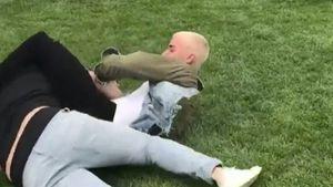 Justin Bieber beim Kämpfen mit Scooter Braun