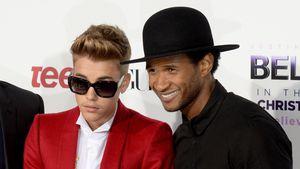 Justin Bieber und Usher in L.A., 2013