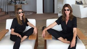 Kaia Gerber mit ihrer Mutter Cindy Crawford
