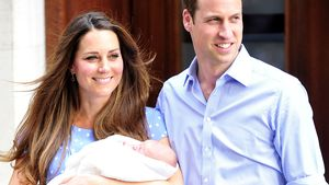 Herzogin Kate und Prinz William mit Baby George