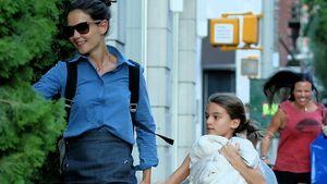 Für Töchterchen Suri: Katie Holmes nie lange auf Partys