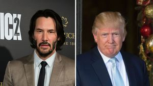 Keanu Reeves und Donald Trump