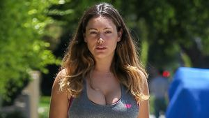 Sport-Stress! Kelly Brook ungeschminkt & ungekämmt