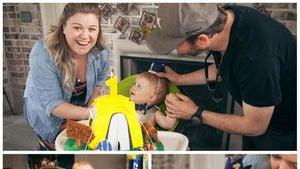 Kelly Clarkson mit ihrem Mann Brandon und Söhnchen Remington