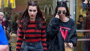 Kendall Jenner und Bella Hadid beim Verlassen eines Fastfood-Restaurants