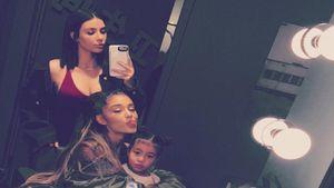 Kim Kardashian ihre Tochter North und Sängerin Ariana Grande