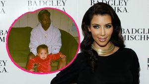 """Kim Kardashian mit ihren """"Jungs"""" Ehemann Kanye und Söhnchen Saint"""