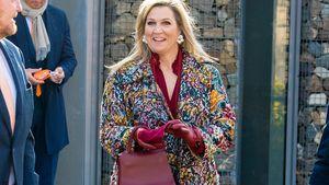 Altbacken oder schick? Königin Máxima trägt Blumenmantel