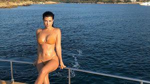 So speckte Kourtney Kardashian nach den Geburten wieder ab