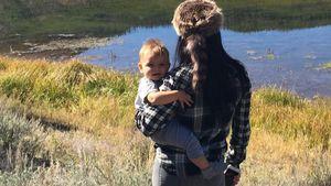 Idyllisch! Kourtney Kardashian zeigt Baby Reign die Berge