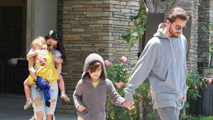 Kourtney Kardashian und Scott Disick mit ihren Kindern Penelope und Mason