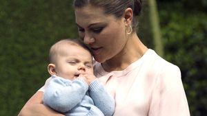 Kronprinzessin Victoria und Prinz Oscar bei einem Fototermin auf Schloss Solliden