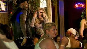 Kyle Christie und Holly Hagan bei Dreharbeiten zu Geordie Shore