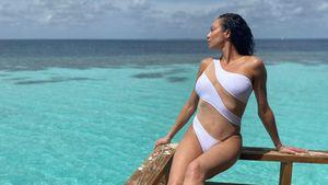 Kaum Stoff: Lilly Becker posiert im sexy weißen Badeanzug