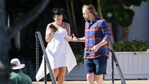 Angeblich verlobte Lily Allen und David genießen Sonnen-Tag