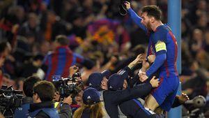 Lionel Messi beim Champions Leauge-Achtefinale
