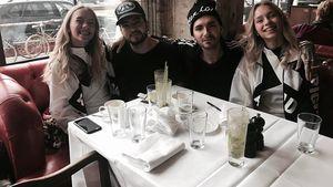 Lisa und Lena zusammen mit Bill und Tom Kaulitz