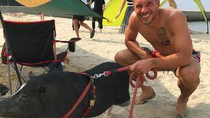"""""""Poldi und Schweini""""-Reunion! Lukas mit tierischem Kumpel"""