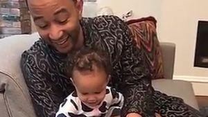 John Legend mit Töchterchen Luna
