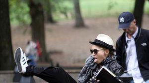 Uff! Madonna schuftet schwer am Film-Set
