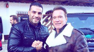 Manuel Charr und Arnold Schwarzenegger in Kitzbühel
