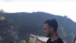Marc Aurel Zeeb bei Bastian Yotta auf dem Balkon