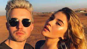 Stefanie Giesinger mit ihrem Freund Marcus Butler