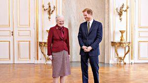 Margrethe von Dänemark: Süßer Grinseauftritt mit Prinz Harry