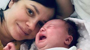 Kind vom Stiefsohn: Influencerin teilt zuckersüße Baby-Pics